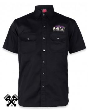 Hotrod Hellcat Speed Kills Work Shirt for man, Front