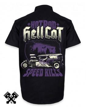 Hotrod Hellcat Speed Kills Work Shirt for man, Back
