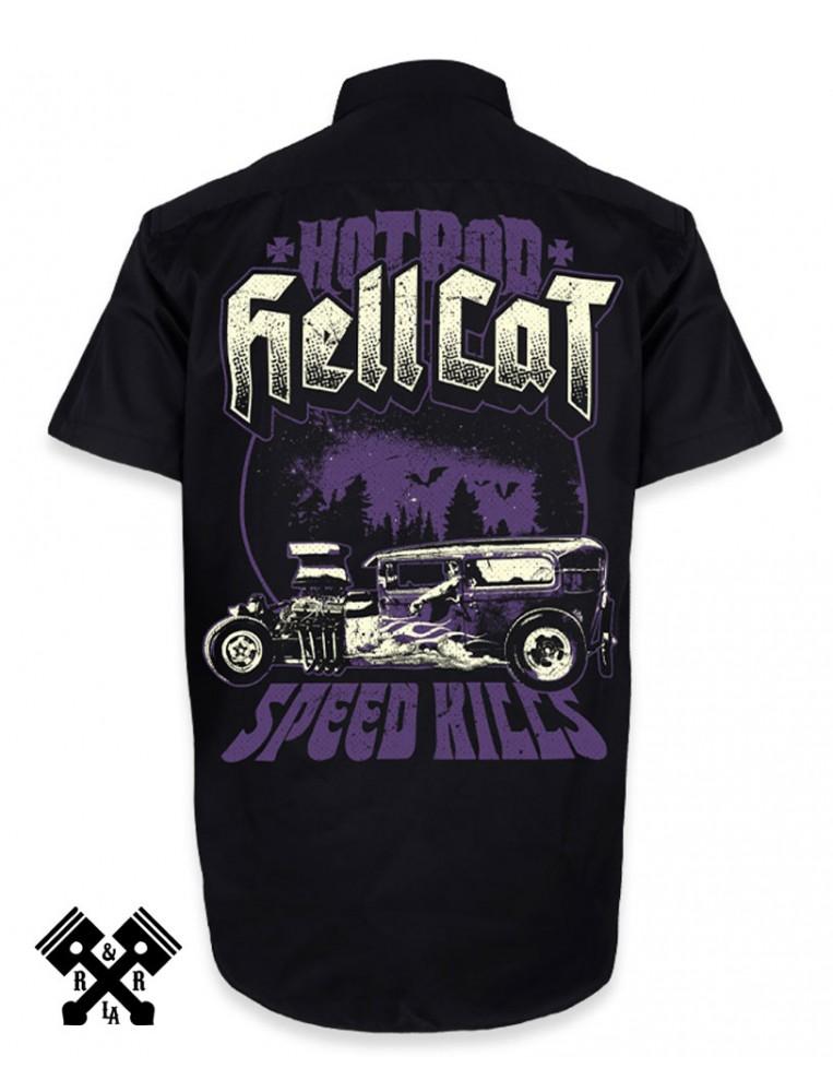 Camisa Hotrod Hellcat, Speed Kills para hombre, espalda