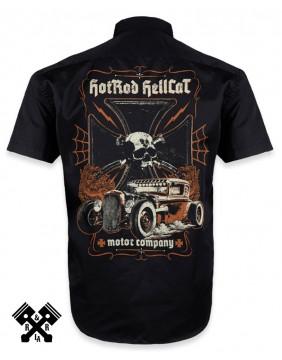 Hotrod Hellcat Motor Company Work Shirt for man, Back