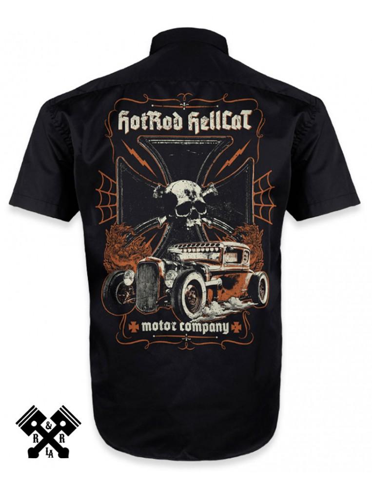 Camisa Hotrod Hellcat, Motor Company para hombre, espalda