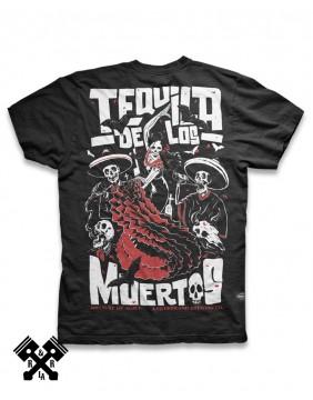 Camiseta Tequila de los Muertos Liquorbrand para hombre, Espalda