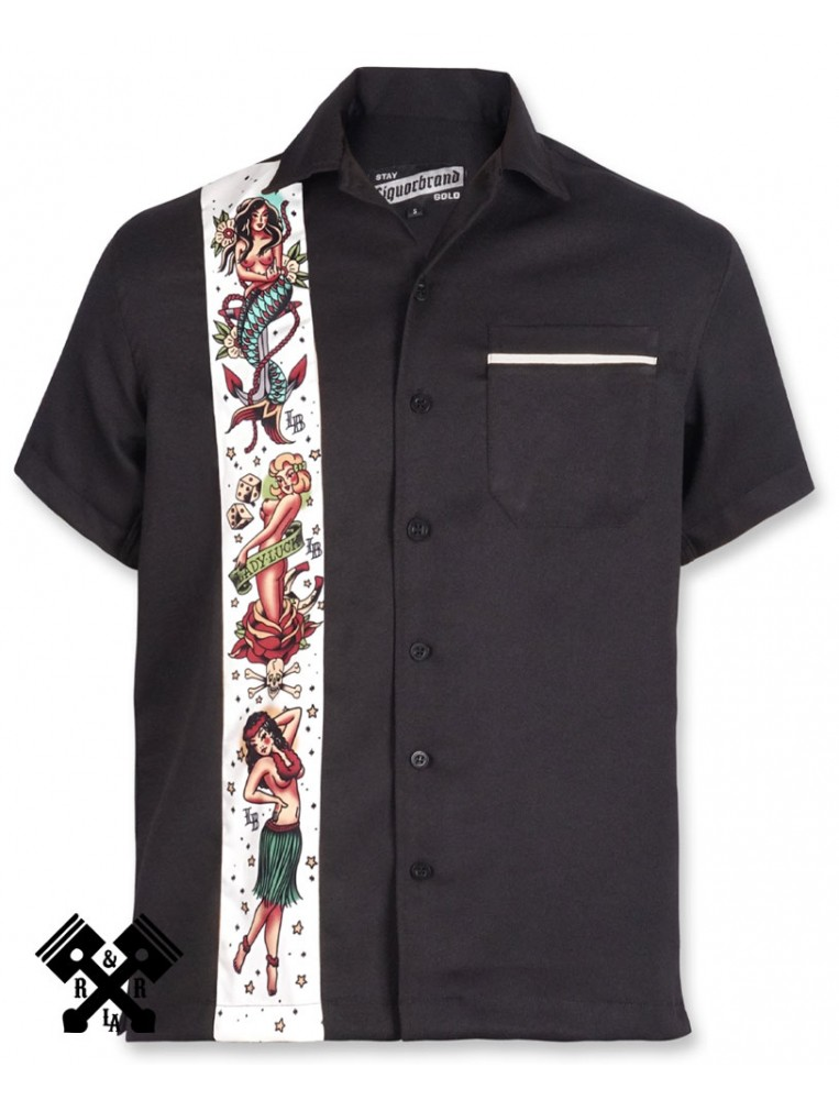 Liquorbrand Flash Bowling Shirt, Front