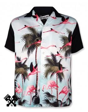 Liquorbrand Miami Bowling Shirt, Front