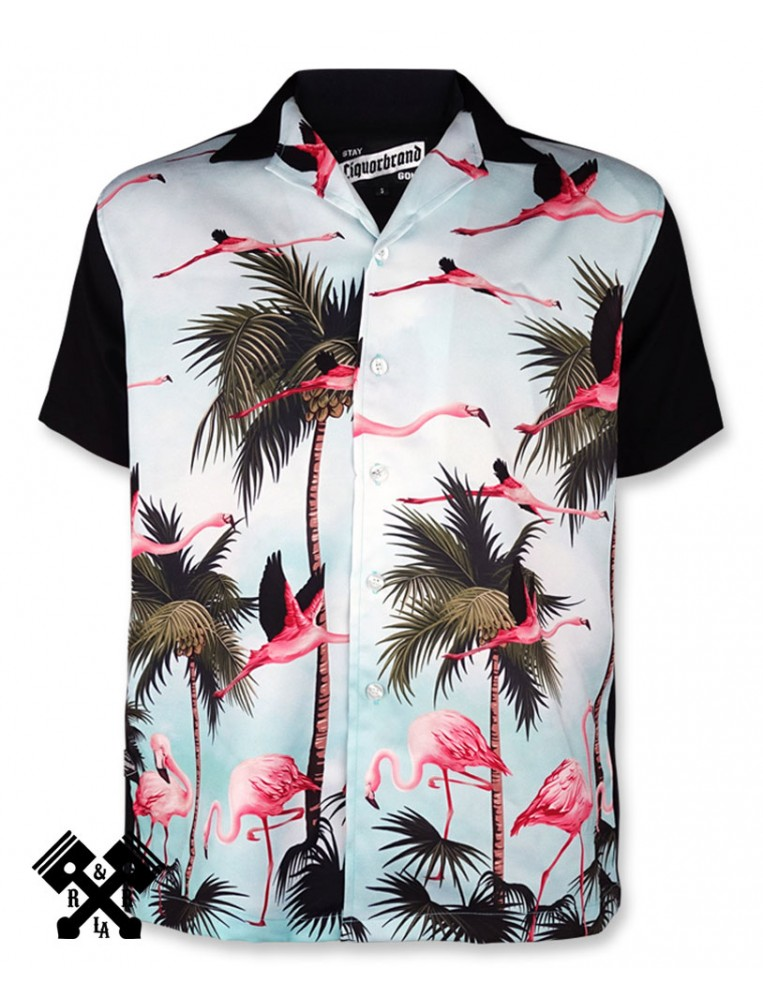 Camisa Bolera Miami Liquorbrand para hombre, frontal