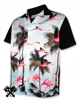 Camisa Bolera Miami Liquorbrand para hombre, frontal 2