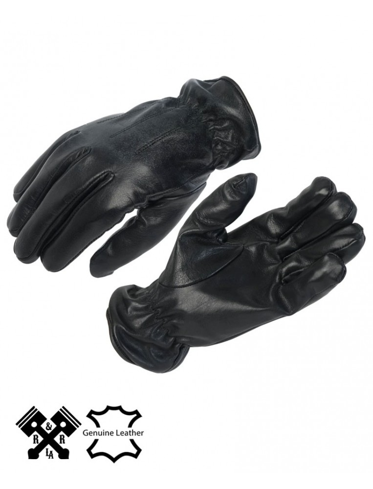 Guantes Lisos negros de moto marca OSX