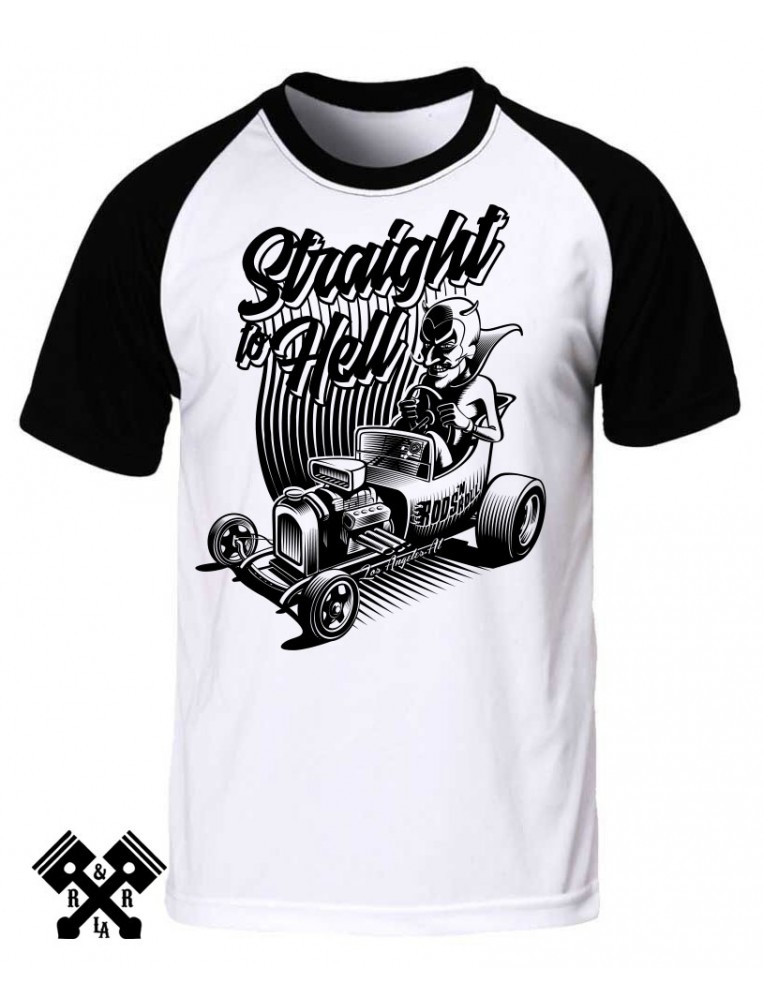 RNR Straight to Hell Raglan T-shirt for man