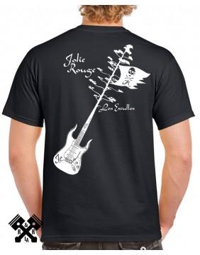 Camiseta negra Bar de Jo para hombre espalda