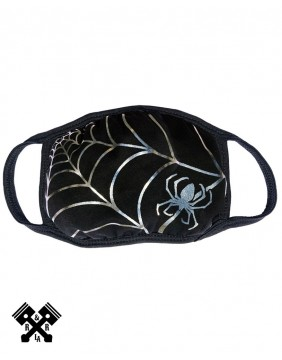 Spiderweb Silver Foil Face Mask