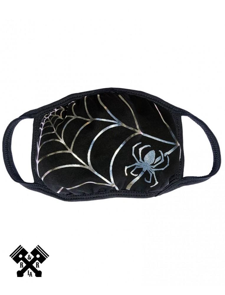Spiderweb Silver Foil Face Mask