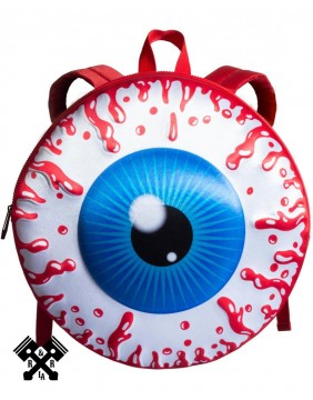 Eyeball Backpack Red Front