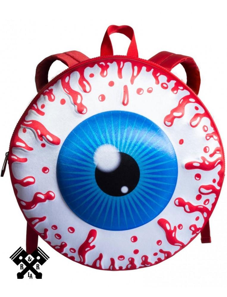 Eyeball Backpack Red Front