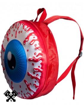Eyeball Backpack Red Profile
