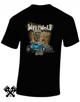 Rods 'N' Roll Creeprunners Werewolf T-shirt for man