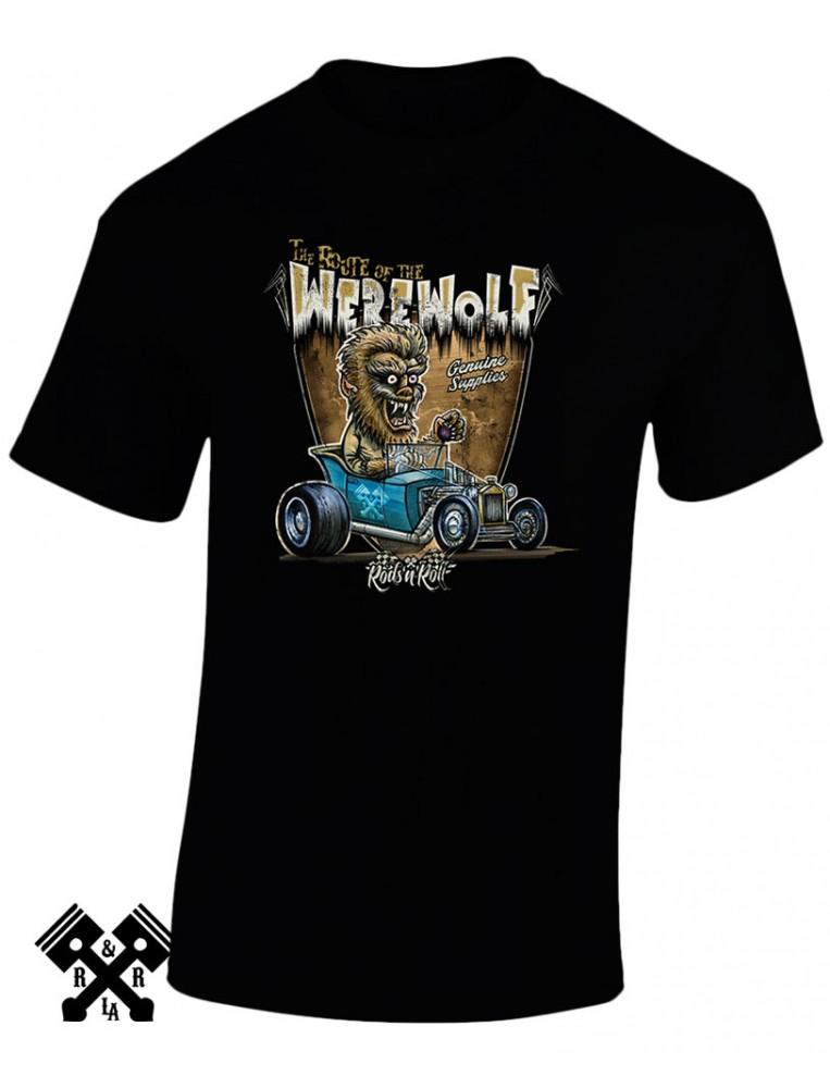 Camiseta Creeprunners Werewolf para hombre de la marca Rods 'N' Roll