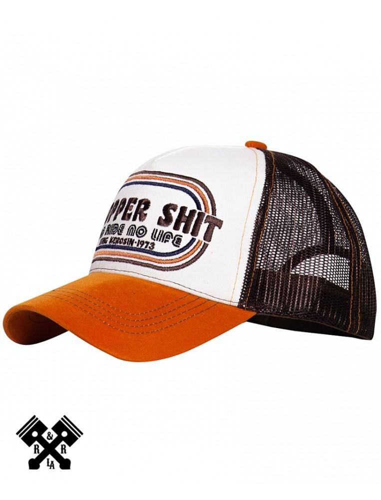 Gorra de camionero Chopper Shit marca King Kerosin, perfil