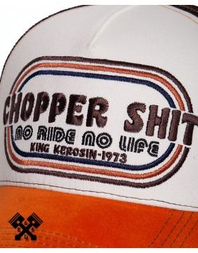 King Kerosin Chopper Shit Trucker Cap, detail