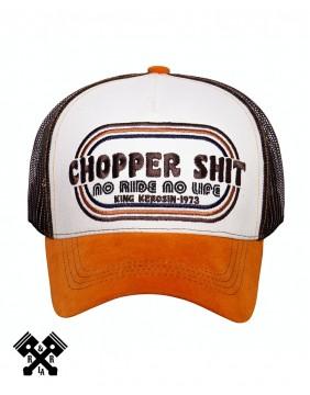 King Kerosin Chopper Shit Trucker Cap, front