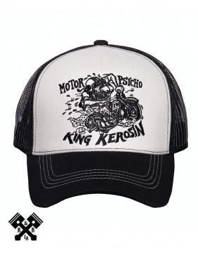 Gorra de camionero Chopper Shit marca King Kerosin, frontal