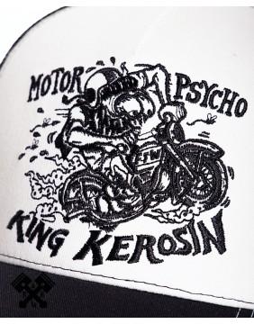 Gorra de camionero Chopper Shit marca King Kerosin, detalle