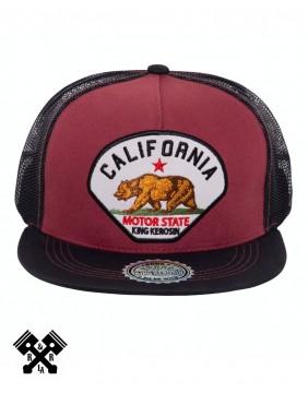Gorra Californi marca king kerosin, frontal