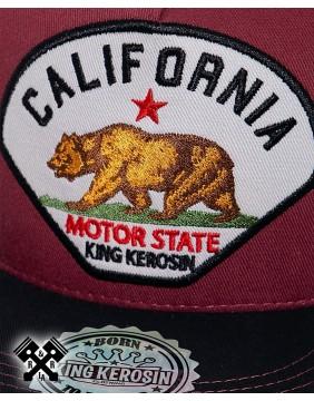 Gorra Californi marca king kerosin, detalle