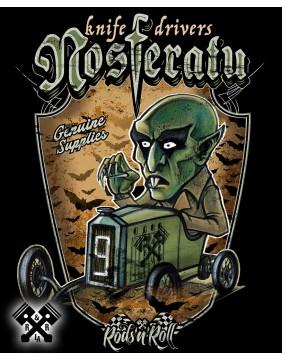 Detalle Camiseta Creeprunners Nosferatu para hombre de Rods 'N' Roll
