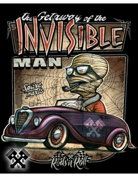 RNR Creeprunners Invisible Man T-shirt for man, close up