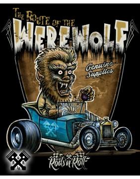 Rods 'N' Roll Creeprunners Werewolf T-shirt for man, close up