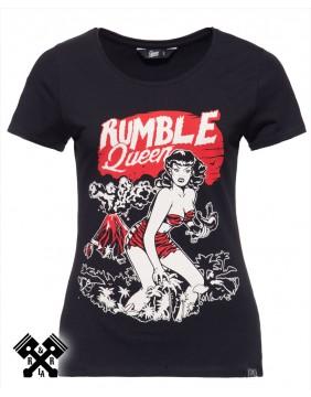 Camiseta Rumble Queen marca Queen Kerosin para mujer, frontal