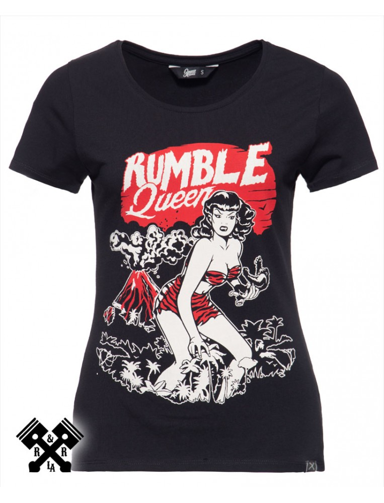 Queen Kerosin Rumble Queen T-shirt, front