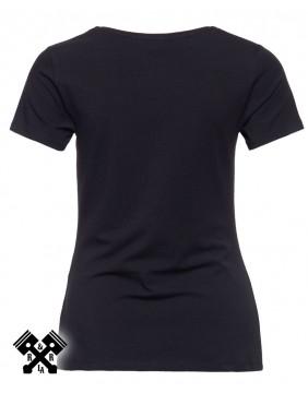 Camiseta Rumble Queen marca Queen Kerosin para mujer, espalda