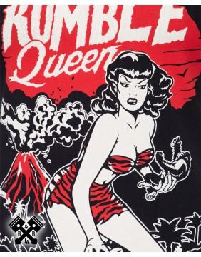 Camiseta Rumble Queen marca Queen Kerosin para mujer, detalle