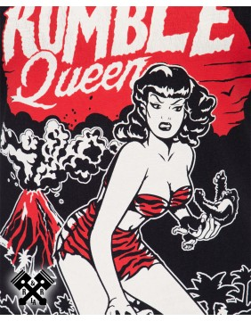 Queen Kerosin Rumble Queen T-shirt, detail