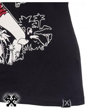 Camiseta Rumble Queen marca Queen Kerosin para mujer, bordado