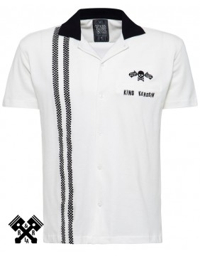 King Kerosin Racing Bowling Shirt, front