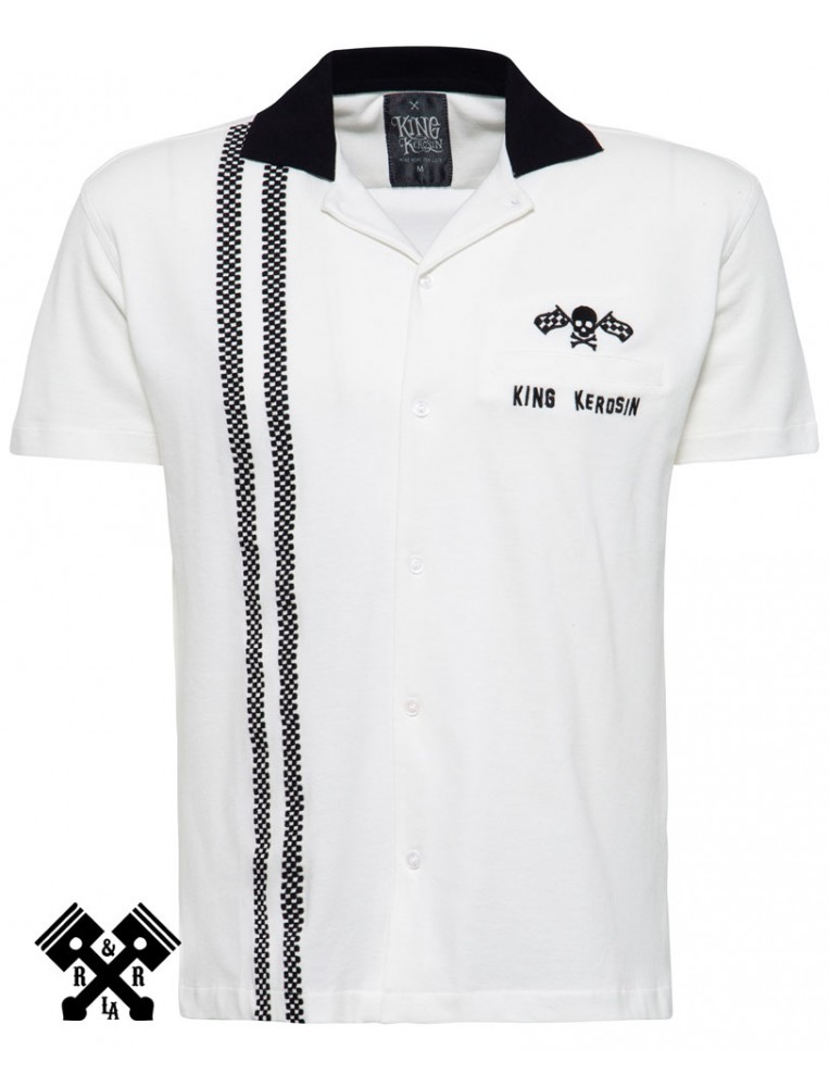 Camisa Bolera Racing marca King Kerosin para hombre, frontal