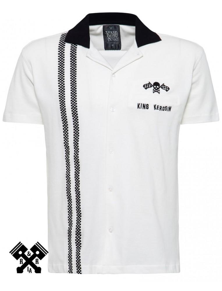 King Kerosin Racing Bowling Shirt, front