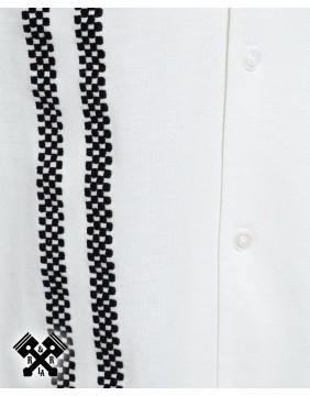 Camisa Bolera Racing marca King Kerosin para hombre, bordado banderas de carreras
