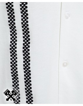King Kerosin Racing Bowling Shirt, racing flags embroidery