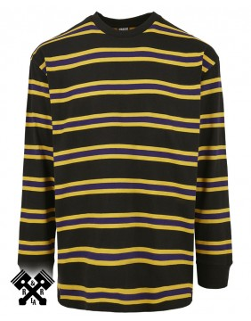 Urban Classics Long Sleeve Striped T-shirt, front