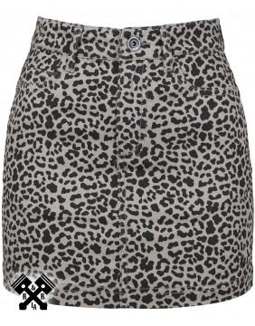 Urban Classics Leopard Mini Skirt, front