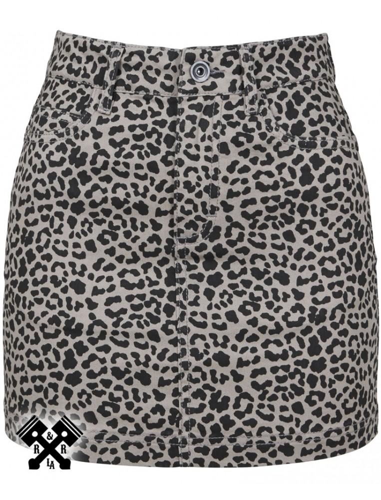 Mini Falda de leopardo marca Urban Classics, delante
