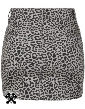 Urban Classics Leopard Mini Skirt, back