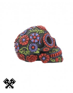 Sugar Bloom Decorative Skull, left