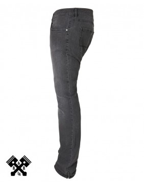 Urban Classics Slim Fit black Jeans, left profile