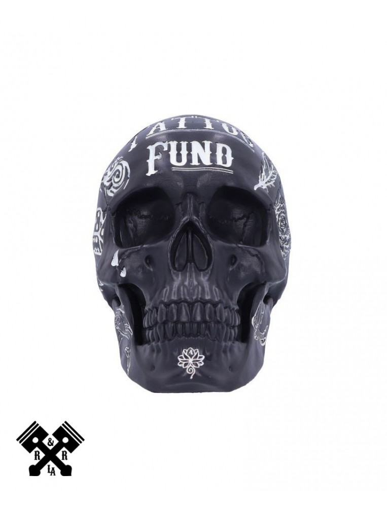 Tattoo Fund Skull Black, front
