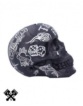 Tattoo Fund Skull Black, left profile