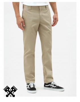 Dickies Slim Fit 872 Khaki Pants, front